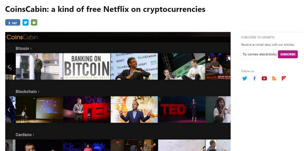 The Original Blockchain and Cryptocurrency Video Service